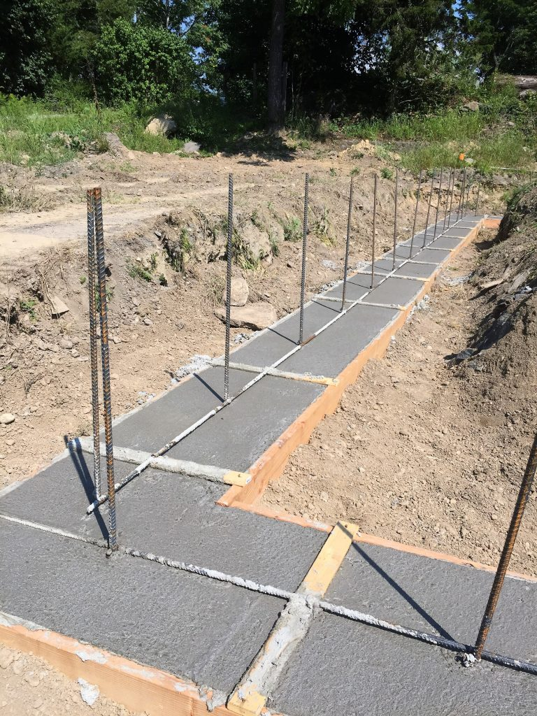 Finished pouring the footings