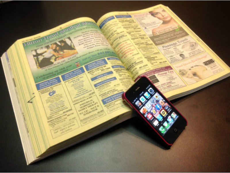 Cell phone replaces phone book